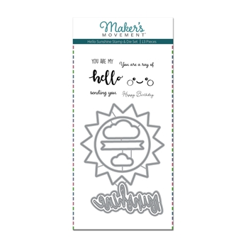 Maker's Movement HELLO SUNSHINE Stamp And Die Set msd215