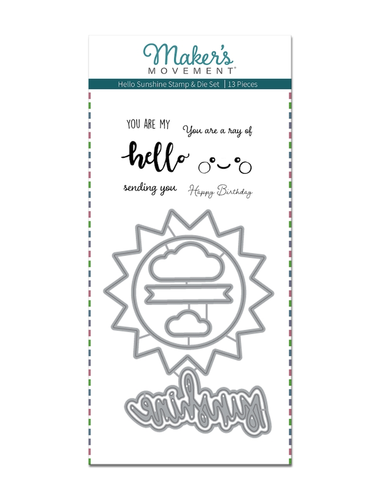 Maker's Movement HELLO SUNSHINE Stamp And Die Set msd215 zoom image