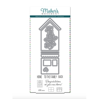 Maker's Movement WELCOME HOME Stamp And Die Set msd216