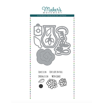 Maker's Movement IN FULL BLOOM Stamp And Die Set msd217