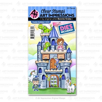 Art Impressions CASTLE CUBBIES Clear Stamps and Dies 5225