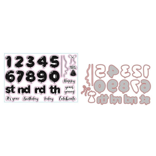Gemini BALLOON NUMBERS Stamp And Die Set gemstdbnum Preview Image