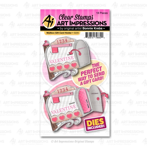 Art Impressions MAILBOX GIFT CARD HOLDER Clear Stamps and Dies 5220 Preview Image