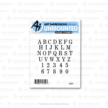 Art Impressions SMALL ALPHABET SET Clear Stamps 5284*