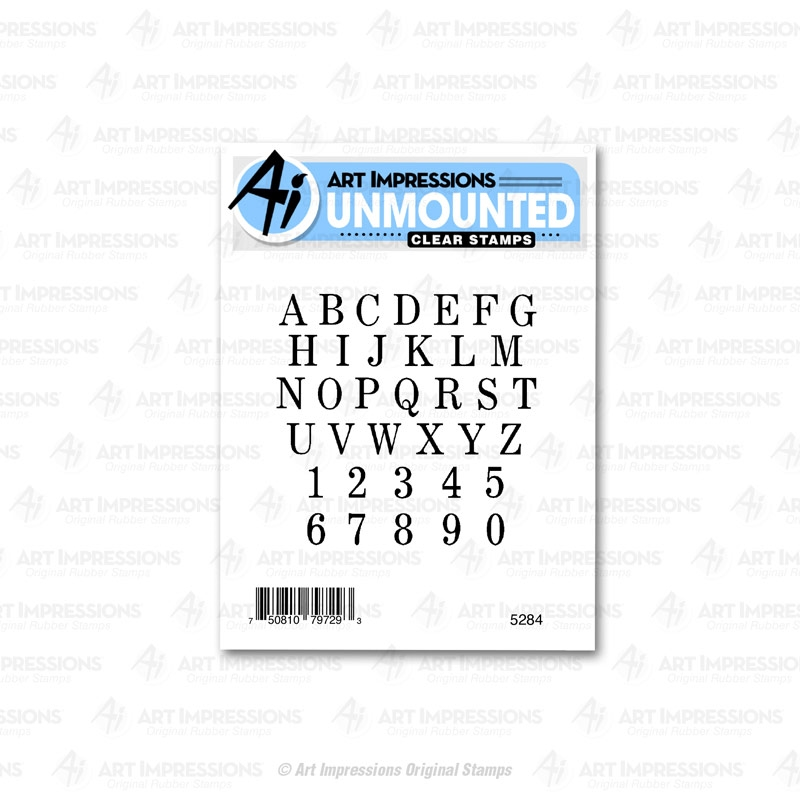 Art Impressions SMALL ALPHABET SET Clear Stamps 5284 zoom image