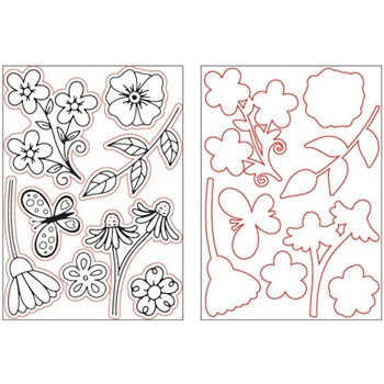 Crafter's Companion FLORAL BOUTIQUE Gemini Stamp And Die Set gemstdflb