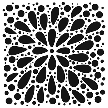 The Crafter's Workshop EXPLOSION 6x6 Stencil tcw884s