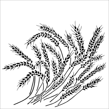 The Crafter's Workshop WHEAT STALK 6x6 Stencil tcw912s