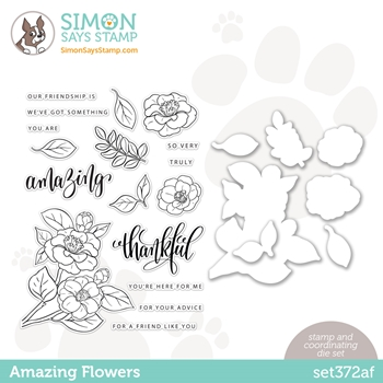 Gina K Designs Exclusive Stamps And Dies AMAZING FLOWERS set372af