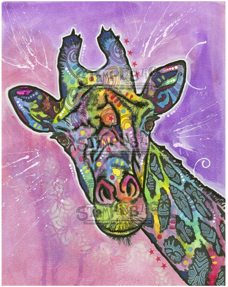 Stamplistic Cling Stamp GIRAFFE Dean Russo l200102 zoom image