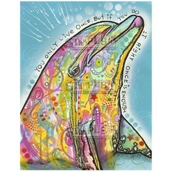 Stamplistic Cling Stamp DOLPHIN Dean Russo k200103