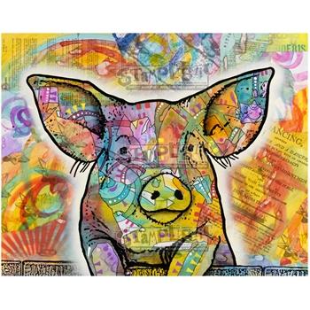 Stamplistic Cling Stamp THE PIG Dean Russo k200104
