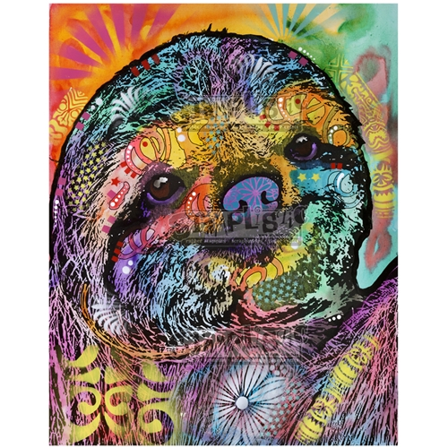 Stamplistic Cling Stamp SLOTH SMILE Dean Russo l200105 Preview Image