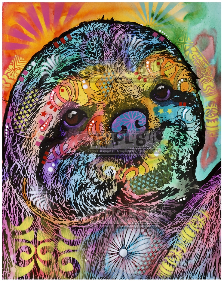 Stamplistic Cling Stamp SLOTH SMILE Dean Russo l200105 zoom image