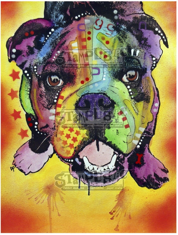 Stamplistic Cling Stamp BABY BULLDOG Dean Russo l200120 zoom image