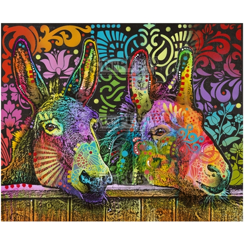 Stamplistic Cling Stamp DONKEYS Dean Russo l200110 Preview Image