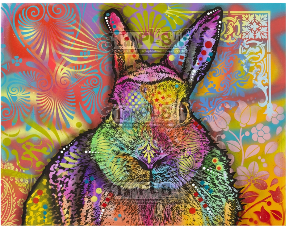 Stamplistic Cling Stamp HARE Dean Russo l200111 zoom image