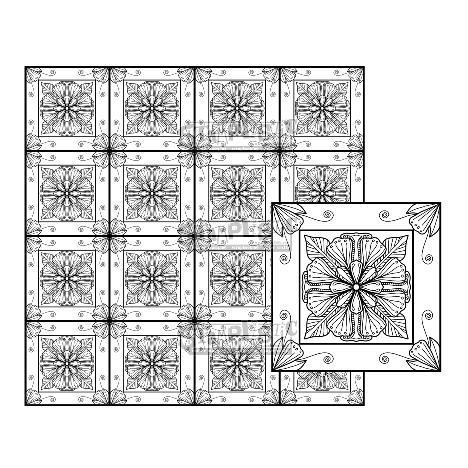 Stamplistic Cling Stamps BLOOMSBERG SQUARE m200136  zoom image