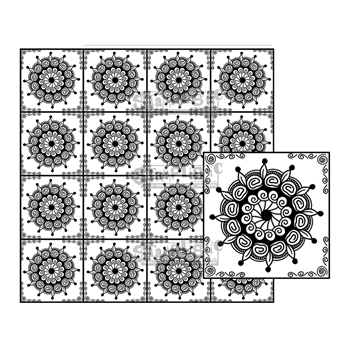 Stamplistic Cling Stamps ON POINT Square m200131*