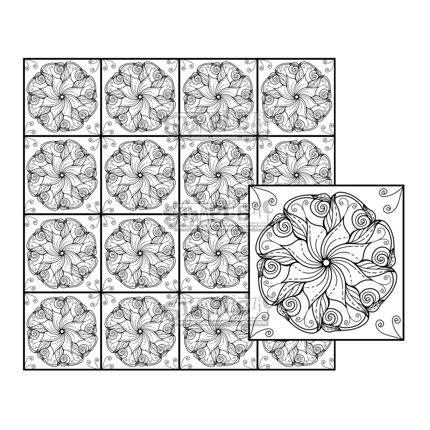 Stamplistic Cling Stamps SMOOTHSETTIA Square m200137 zoom image