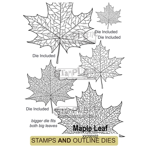 Stamplistic MAPLE LEAF Cling Stamps and Die Set xx200102 Preview Image