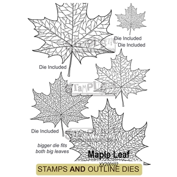 Stamplistic MAPLE LEAF Cling Stamps and Die Set xx200102