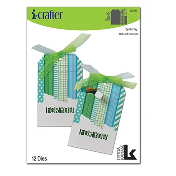 i-Crafter ZIP GIFT TAG Dies 222010