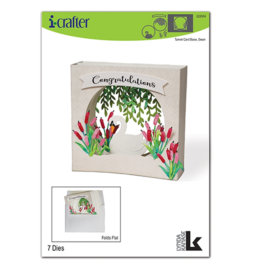 i-Crafter TUNNEL CARD BASE SWAN Dies 222004* zoom image