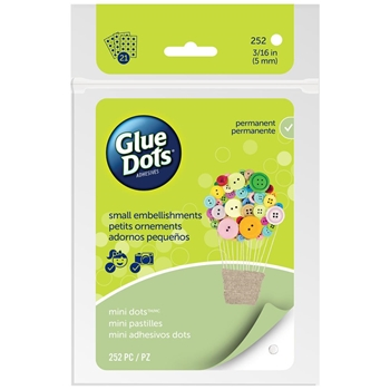 252 GREEN 33709 MINI GLUE DOTS 21 Adhesive Sheets Clear M1004