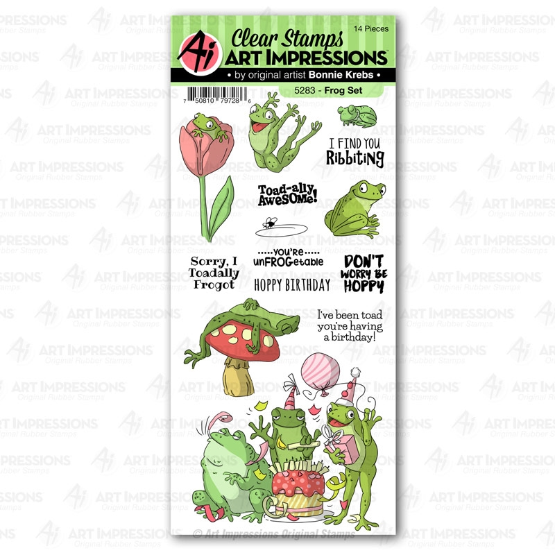 Art Impressions FROG Clear Stamps Funny Farm 5283 zoom image