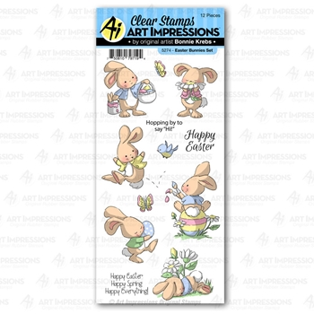 Art Impressions EASTER BUNNIES Clear Stamps 5274