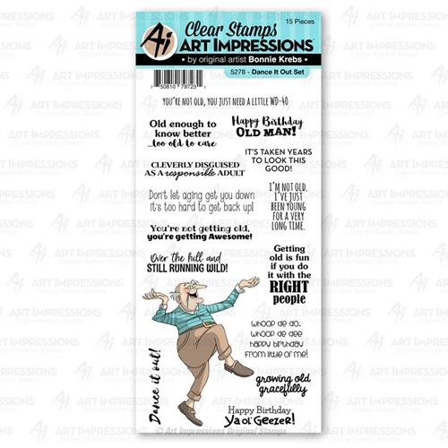 Art Impressions DANCE IT OUT Clear Stamps Laugh Lines 5278 Preview Image
