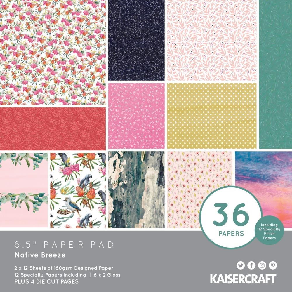 Kaisercraft NATIVE BREEZE 6.5 Inch Paper Pad pp1084* zoom image