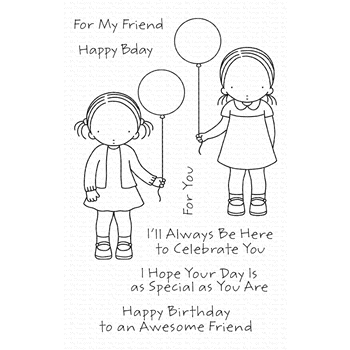 Pure Innocence BIRTHDAY BESTIES Clear Stamps pi301