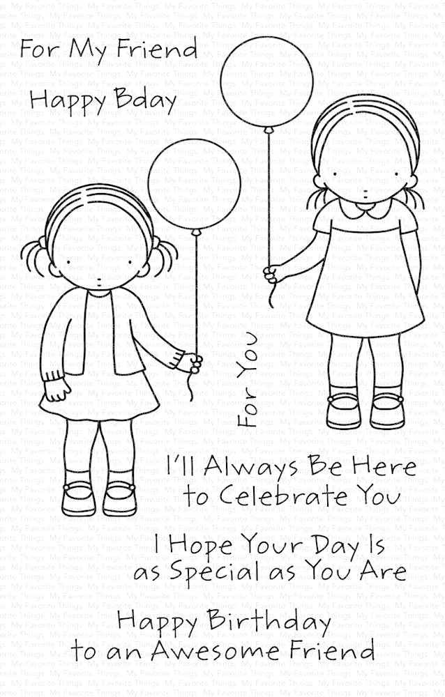 Pure Innocence BIRTHDAY BESTIES Clear Stamps pi301 zoom image
