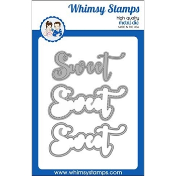 Whimsy Stamps SWEET WORD AND SHADOW Dies WSD444