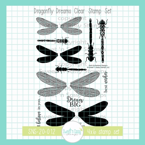 Sweet 'N Sassy DRAGONFLY DREAMS Clear Stamp Set sns20012 Preview Image