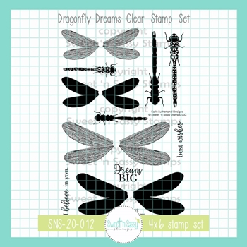Sweet 'N Sassy DRAGONFLY DREAMS Clear Stamp Set sns20012