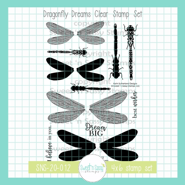 Sweet 'N Sassy DRAGONFLY DREAMS Clear Stamp Set sns20012 zoom image