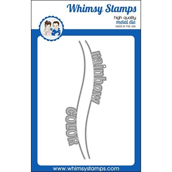 Whimsy Stamps RAINBOW WORDS BORDER Dies WSD443*