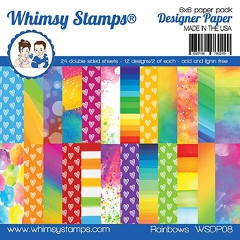 Whimsy Stamps RAINBOW 6 x 6 Paper Pads WSDP08