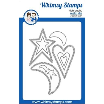 Whimsy Stamps PRIMITIVE SHAKER SHAPES Dies WSD442