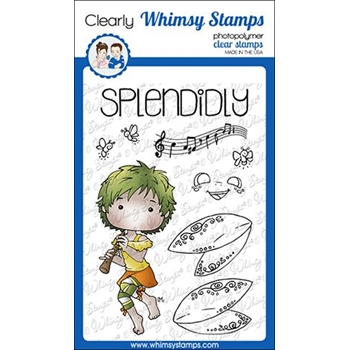Whimsy Stamps POLKA DOT PALS KHADIJA Clear Stamps BS1004
