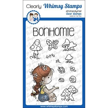 Whimsy Stamps POLKA DOT PALS IMOGEN Clear Stamps BS1003