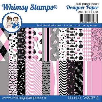 Whimsy Stamps LICORICE 6 x 6 Paper Pads WSDP12