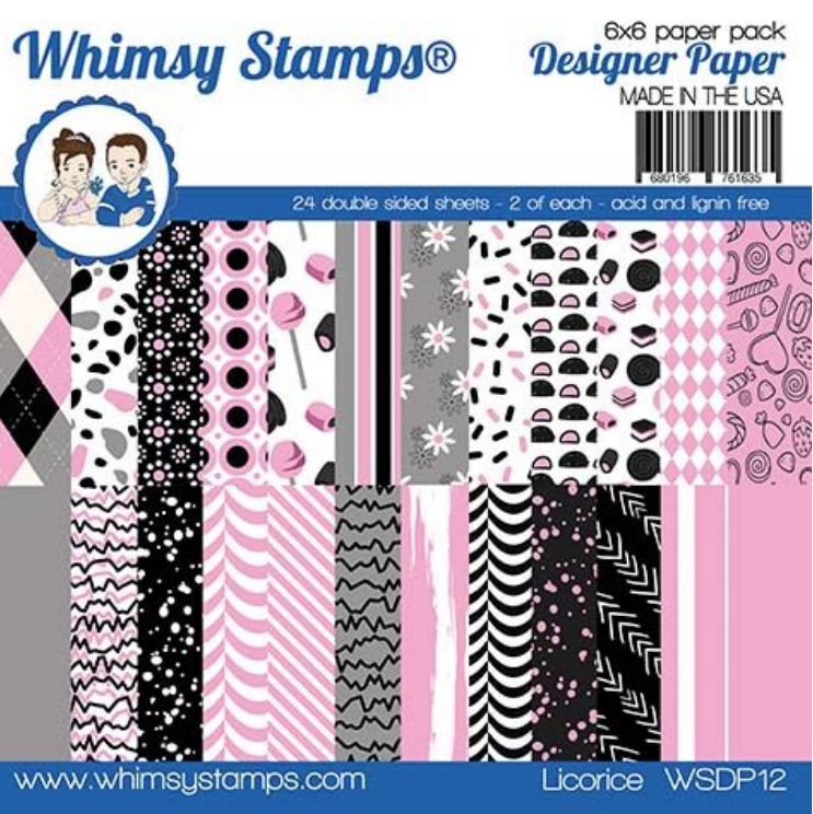 Whimsy Stamps LICORICE 6 x 6 Paper Pads WSDP12 zoom image
