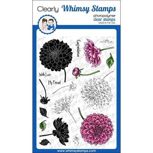 Whimsy Stamps LAYERED DAHLIA Clear Stamps C1310 Preview Image