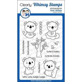 Whimsy Stamps KOALA CUTENESS Clear Stamps CWSD300