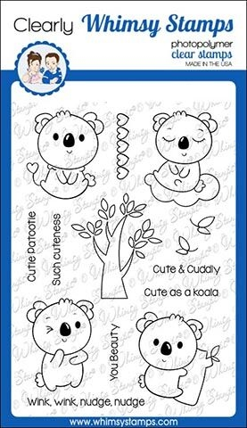 Whimsy Stamps KOALA CUTENESS Clear Stamps CWSD300 zoom image