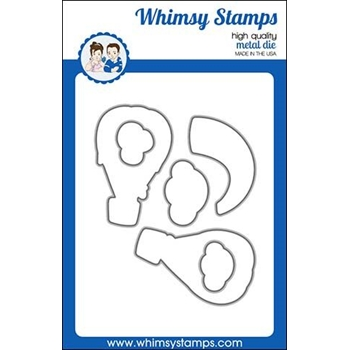 Whimsy Stamps HAPPY SKY OUTLINE Dies WSD441